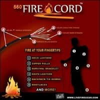 550 FireCord - 550 Paracord with LiveFire Tinder inside! - 25 feet